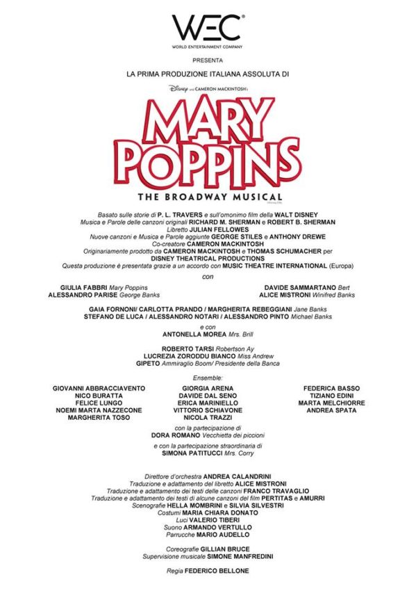 Cast Mary Poppins - Il Musical